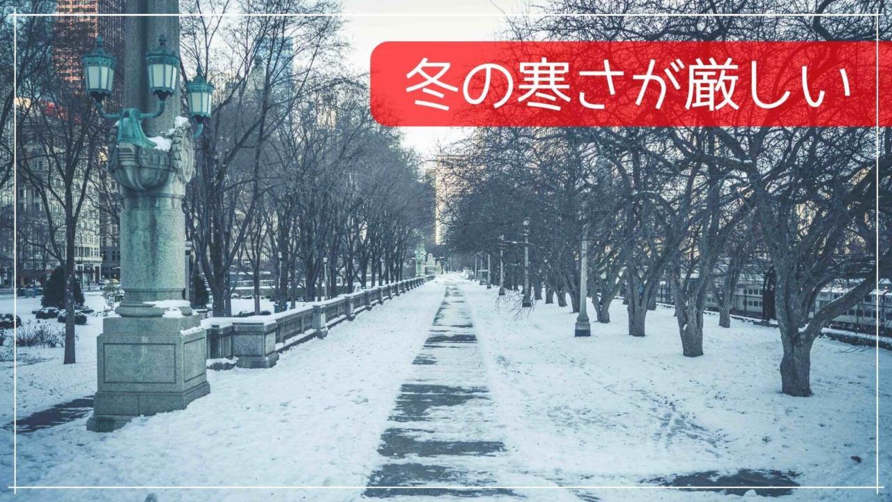 冬の寒さが厳しい